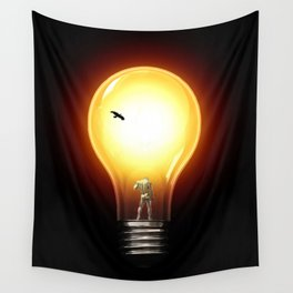 lost in the dark Wall Tapestry
