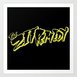 The Zit Remedy - Cramps Style Logo Art Print