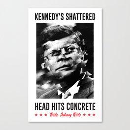 Misfits JFK Poster Series - Head Hits Concrete Canvas Print