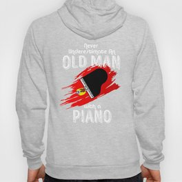 Grand Piano Old Man Keyboard Clavier Pianist Gift Hoody