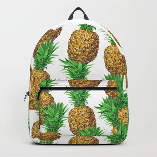 Seamless pattern with pineapples Backpack
