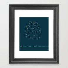 Sky Whale Island Framed Art Print