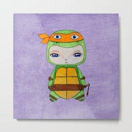 A Boy - Michelangelo TMNT Metal Print