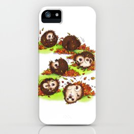 Fall Hedgie 4 iPhone Case