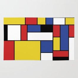 Mondrian Geometric Art Rug