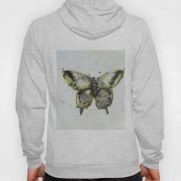 Yellow and Gray Butterfly Hoody
