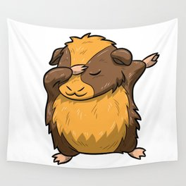 Dabbing Guinea Pig Shirt Hamster Cavy Dab Pet Gift Wall Tapestry
