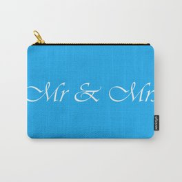 Mr & Mrs Monogram Carry-All Pouch