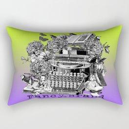 typewriter, kids, writing, reading, book, flower, collage, vintage, engraving, Rectangular Pillow