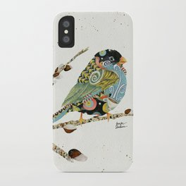 Cafe Swirly Bird 4 iPhone Case