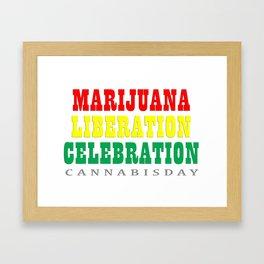 cannabis day Framed Art Print