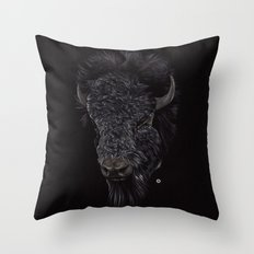 Bison / Buffalo Throw Pillow