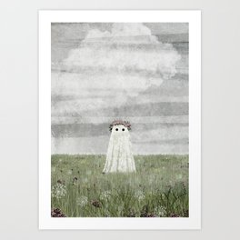 There's A Ghost in the Summer Meadow Art Print