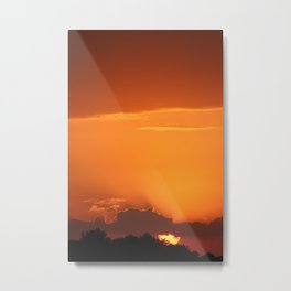 Summer Sunset in Bright Colours Metal Print