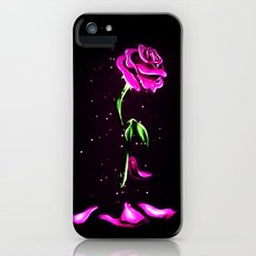 Beauty and The Beast Rose Flower iPhone SE Slim Case
