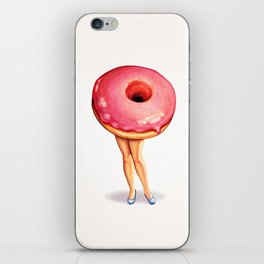 Donut Girl iPhone Skin