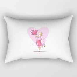 Mommy's Cooking For Valentine's Day Rectangular Pillow