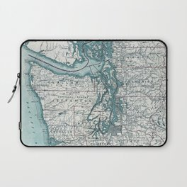 Puget Sound Map Laptop Sleeve