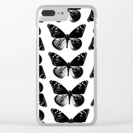 Pattern of butterflies Clear iPhone Case