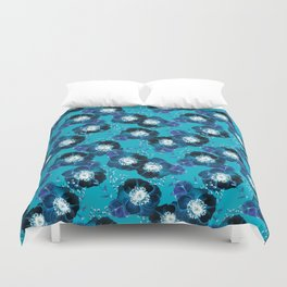 Pretty Anemone Pattern Duvet Cover
