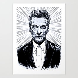The Twelfth Doctor - Peter Capaldi Art Print