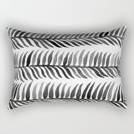 Black Seaweed Rectangular Pillow