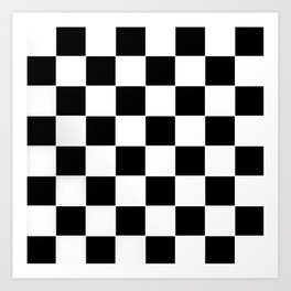 Checkerboard pattern Art Print