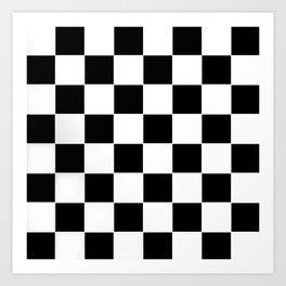 Checkerboard pattern Art Print