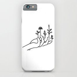 Bloom hand iPhone Case