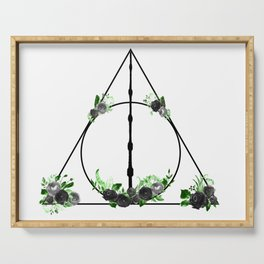 Deathly Hallows in Green and Gray Serving Tray