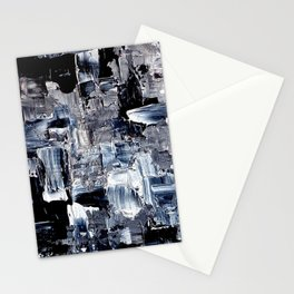 50 Shades... - black & white abstract painting Stationery Cards