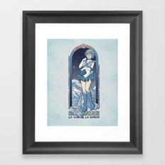 Voice of reason - Sailor Mercury nouveau Framed Art Print