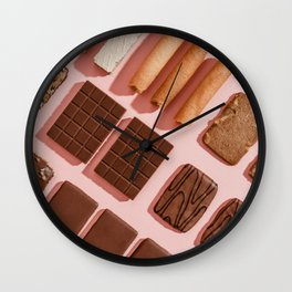 Chocolate cookies Wall Clock