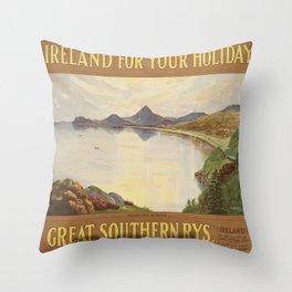Vintage poster - Ireland Throw Pillow