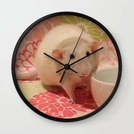 Pipes the Rat Smiling Wall Clock