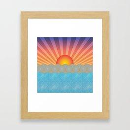 Oriental Seaview Sunset Framed Art Print