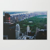 central park Canvas Prints featuring Central Park by Chelsea Victoria