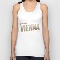"vienna Tank Tops featuring Vintage Print ""Goodnight Vienna."" by Lewys Williams"