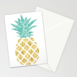 Gold Pineapple Stationery Cards