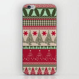 Pine Tree Ugly Sweater iPhone Skin