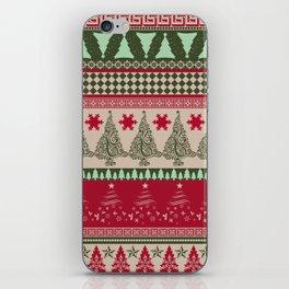 Pine Tree Ugly Sweater iPhone Skin