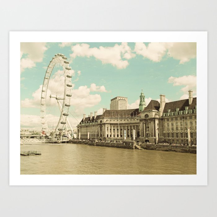 London Eye Love You Art Print