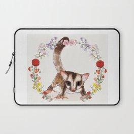 Sugar Glider in Flower Wreath Laptop Sleeve