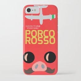 Porco Rosso, japanese movie poster, classic anime, cult manga, Marco Pagot, japan film, alternative movies art, minimalist playbill iPhone Case