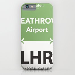LHR Green iPhone Case