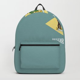 flag delaware,america,usa,Blue Hen,mid-altlantic, Delawarean,Small Wonder,Wilmington,Dover,Newak Backpack