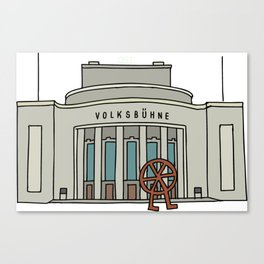 Volksbühne. Theater in East-Berlin Canvas Print