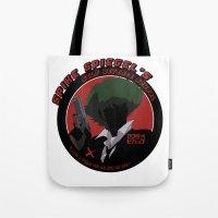 cowboy bebop Tote Bags featuring Bebop Spike by AngoldArts
