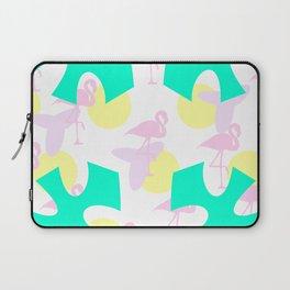 Flamingo vibrant motif Laptop Sleeve