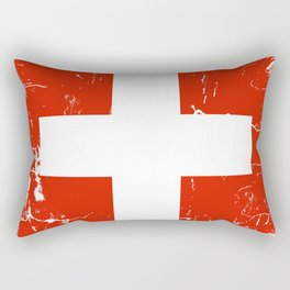 Switzerland flag with grunge effect Rectangular Pillow